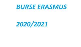 Anunț selecție burse ERASMUS 2020/2021